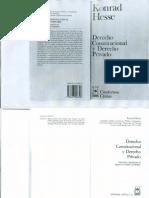 Derecho Constitucional y Derecho Privado - K. Hesse