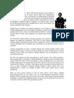 Biografia de César Vallejo