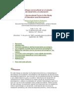 El Enfoque Sociocultural en El Estudio Del Dº y La Educ