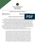 EDFD 202 Discourse 4