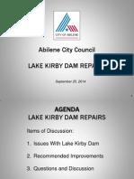 Lake Kirby Dam Repairs