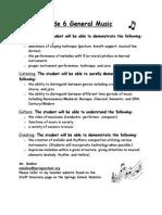 grade 6 general music curriculum 2014-15