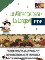 10 Alimentos Para La Longevidad