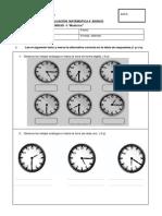 evaluación matemática 4° unidad 4 medición