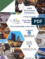 ABFM 2014 Annual Conference Agenda Book
