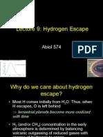 Lecture 9_Hydrogen Escape
