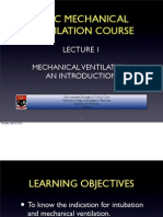 Lecture 1 Mechanical Ventilation an Introduction