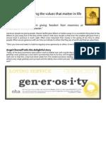 ASPIRE Generosity