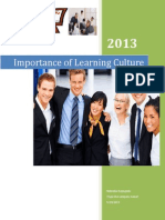 Importance of Learning Culture