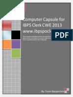 Computer Knowledge Capsule IBPS Clerk III IBPSPOCLERK
