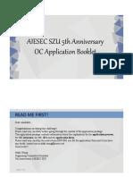 AIESEC SZU 5th Annivesary Application Booklet