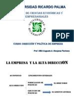 Direccion y Politica de Empresas Clase 2-1-17
