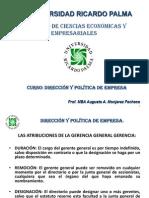 Urp Direccion y Pol de Emp Agosto 2014 2 Semana