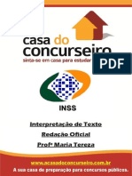 Apostila INSS.recife Int.detextoeRedacaoOficial MariaTereza