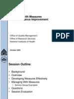 Managing Measures Training