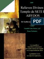Relieves Divinos del Templo de OSIRIS de SETI I en Abydos - Antiguo Egipto