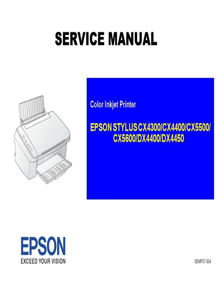 epson stylus cx4300 cx4400 cx5500 cx5600 dx4400 dx4450 pdf image rh scribd com epson stylus cx5600 printer driver download Epson Printer R 2400 Manuals