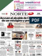 Periódico Norte edición del día 26 de septiembre de 2014