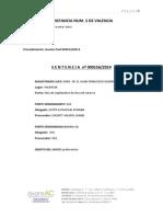 Juzgado 1ª Instancia Nº5 Valencia - Sentencia Nº 000156-2014