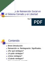 Olga Espinoza - Programas de Reinsercion CESC