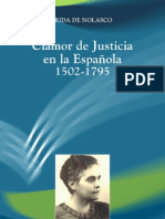 CLAMOR DE JUSTICIA EN LA HISPANIOLA 1502-1795 - Flerida de Nolasco