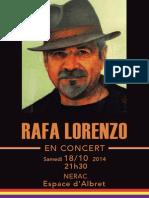 Concierto Rafa Lorenzo en Nerac