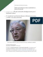 'Los Partidos Mayoritarios Se Han Constituido en Verdaderas Estructuras de Pecado'