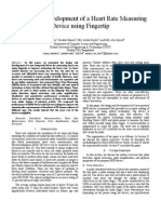 Design and Development of a Heart Rate Measuring Device Using Fingertips