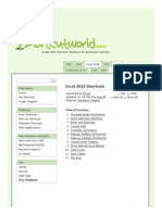 200+ useful Keyboard Shortcuts for Excel 2010