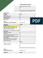 Appraisal or Evaluation Sheet