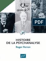 Histoire de La Psychanalyse - Perron Roger