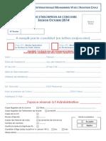 Fiche Inscription Concours 041