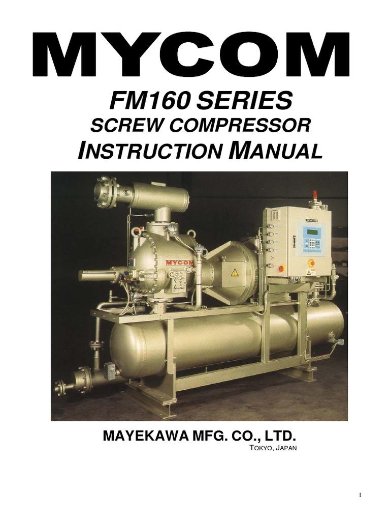 Manual FM160 Compressor | Valve | Gas Compressor