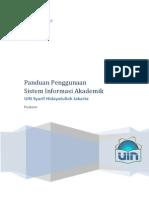 User Manual Sistem Informasi Akademik