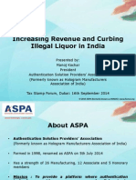 Increasing Revenue and Curbing Illegal Liquor in India