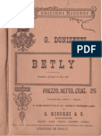 Donizetti - Betly - libretto