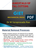 Metal Cutting Theory for Mechanical Engineers