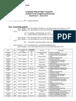Program Consultatii Sem. I 2014