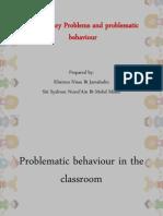 Disciplinary behavior in classroom