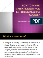 How to Write Articles Summary