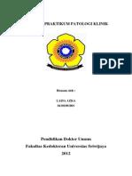 Laporan Praktikum Patologi Klinik Cover