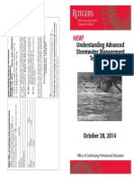 Advanced Stormwater Management Course - October 2014