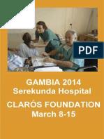 Humanitarian trip Gambia 2014