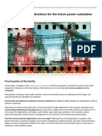 Site Selection Considerations for the Future Power Substation