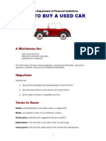 How to Buy a Used Car Mini