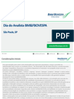 Comunicado ao Mercado sobre Dia do Analista SP - Setembro 2014