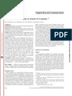 Decreased Bioavailability of Vitamin D in Obesity