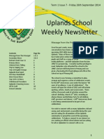 Uplands School Weekly Newsletter - 26 Sept 2014