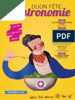 Dijon Fête La Gastronomie_programme