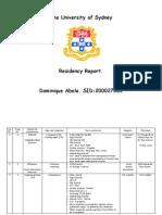 Residency Report